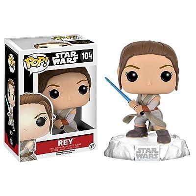 Funko POP Star Wars: Episode 7: The Force Awakens Figure - Rey with Lightsaber: Funko Pop! Star Wars:: Toys & Games
