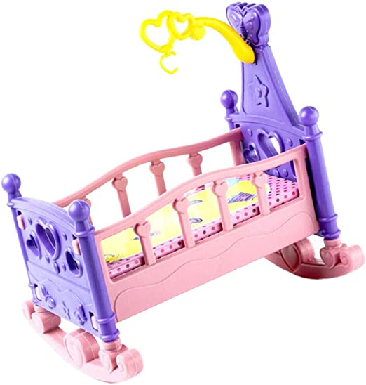 Kids doll accessories bedroom furniture lovely bed dollhouse toy set for doll JB
