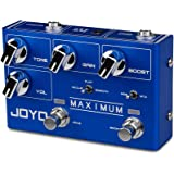JOYO R-05 Maximum Overdrive Pedal Effect with Drive & Boost Dual Channel Guitar Pedal for Electric Guitar Effect True Bypass