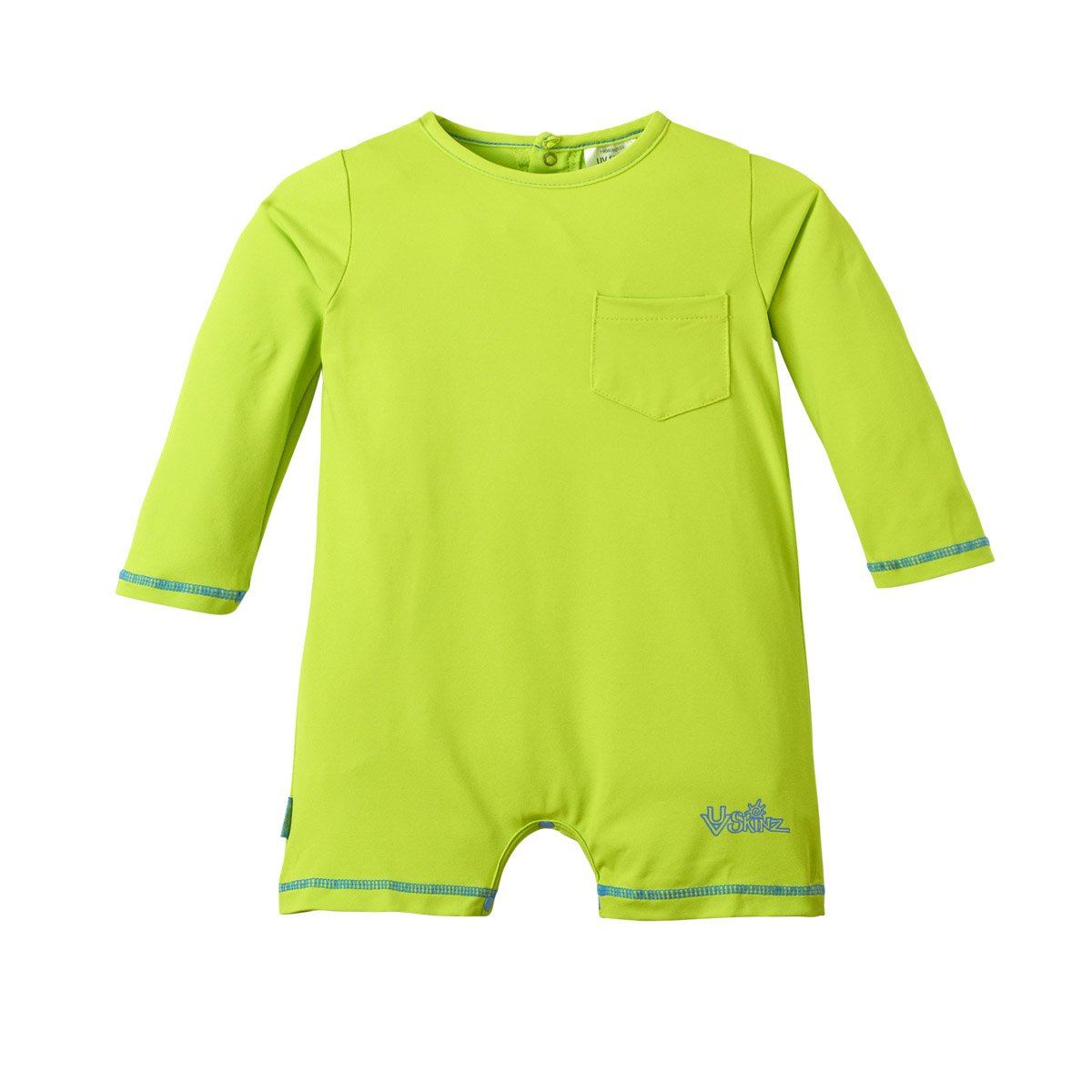UV SKINZ UPF 50+ Baby Boys UV Sunzie Lime (3-6 Months)