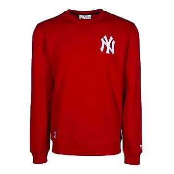 A NEW ERA Era, Hombre, Crew Neck York Yankees MLB SCA, algodón, Sudaderas, Rojo Rojo XL: Amazon.es: Deportes y aire libre