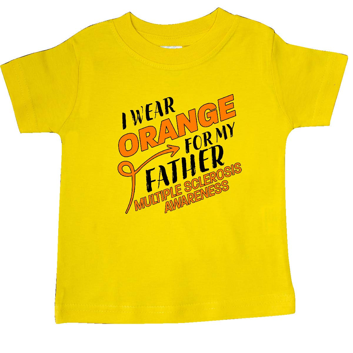 inktastic I Wear Orange for My Father Multiple Sclerosis Awareness Baby T-Shirt
