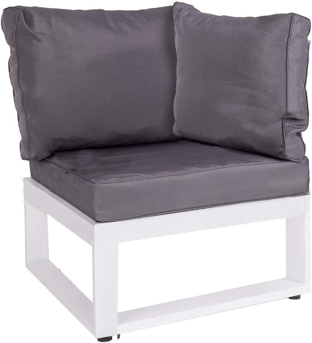 Módulo de sofá rinconera de Aluminio Gris Garden - LOLAhome: Amazon.es: Jardín