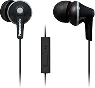 Panasonic RPTCM125K ErgoFit In-Ear Earbud Headphones with Mic and Controller, Black
