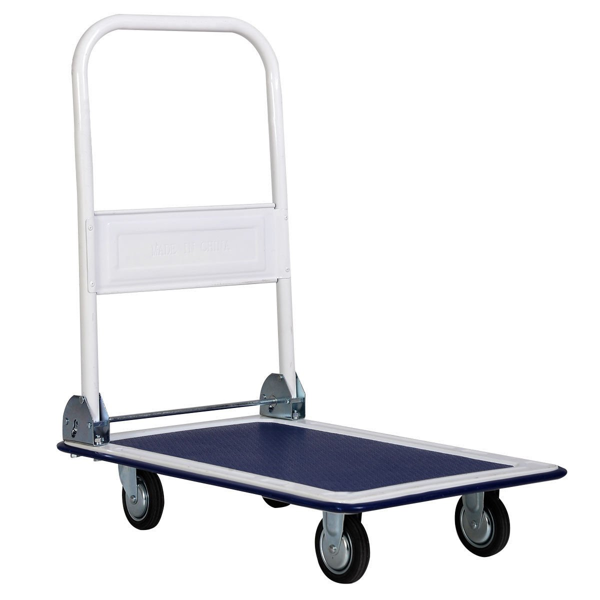 330lbs platform cart dolly folding foldable moving warehouse push hand truck for home, outdoor