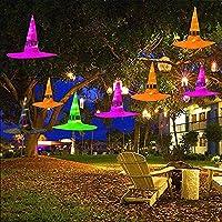 Vercico Sombrero de Bruja con Luces de Halloween Lighting Battery String 8pcs, iluminación Exterior Luminosa…