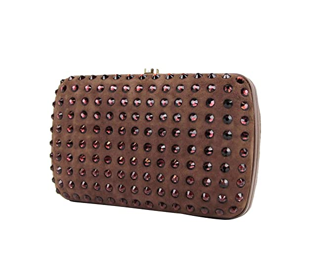 ca29f6be8 Amazon.com: Gucci Women's Brown Suede Broadway Crystal Evening Clutch Bag  310005 5471: Shoes