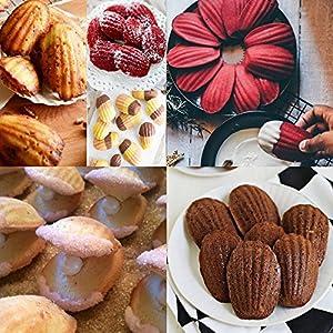 (Set of 10)Bakeware Madeleine Pan , Warp Resistant Nonstick Baking Pan,Making cake /chocolate/soap/jello/fondant/candy