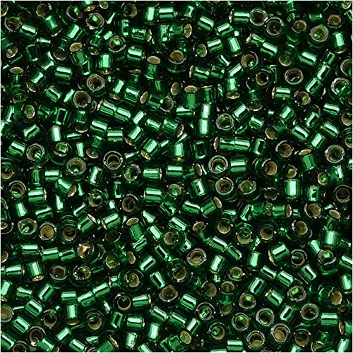 Miyuki Delica Seed Beads 11/0 - Silver Lined Green DB148 7.2 Grams
