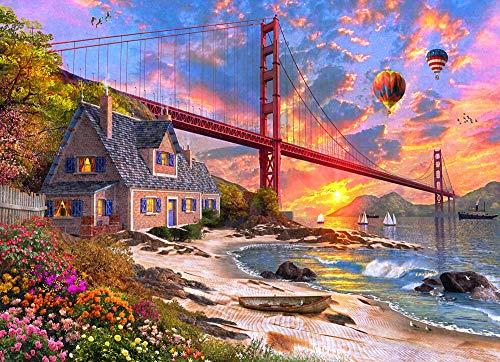 Golden Gate Sunset Jigsaw Puzzle 1000 Piece