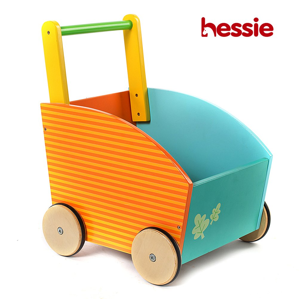 Hessie Little Toddler Kids/Baby Push Wooden Learning Walker, Push and Pull Toys for 1 Year and Up - Owl
