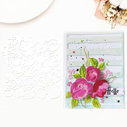 Amazon narutosak die cuts rose flower diy metal cutting dies narutosak die cuts rose flower diy metal cutting dies scrapbook album paper craft embossing tool mightylinksfo