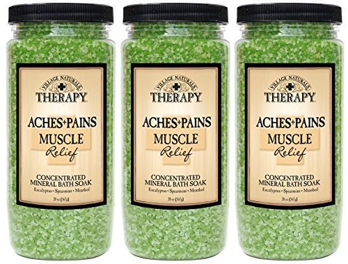 - Village Naturals Therapy Aches & Pains Muscle Relief Mineral Bath Soak 20 Oz (3-pack)