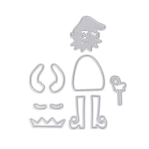 lulujan Navidad Papá Noel Papá Noel Suit DIY manualidades corte muere Plantillas de acero al carbono molde de metal Puzzle - Plantilla para grabar artes ...