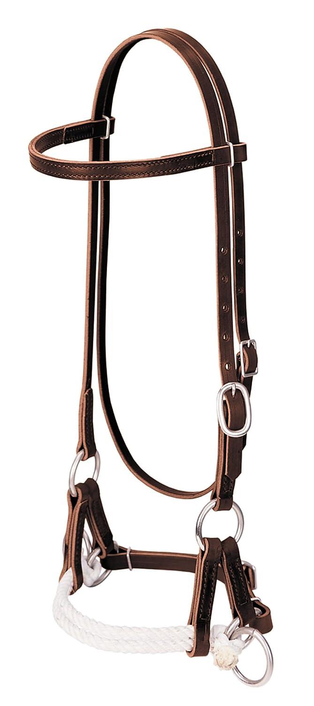 Weaver Latigo Leather Double Rope Side Pull   B004XLJIRS
