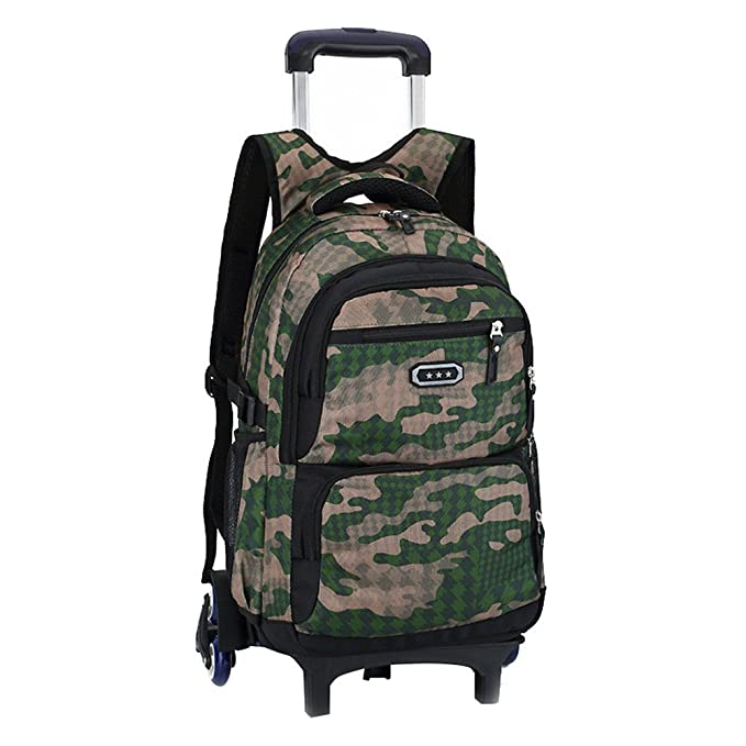 4e13ba9fe97d Fanci Flora Camo Waterproof Elementary Rolling Trolley School Bag Backpack  Boys Camouflage Wheeled Backpack Carry on