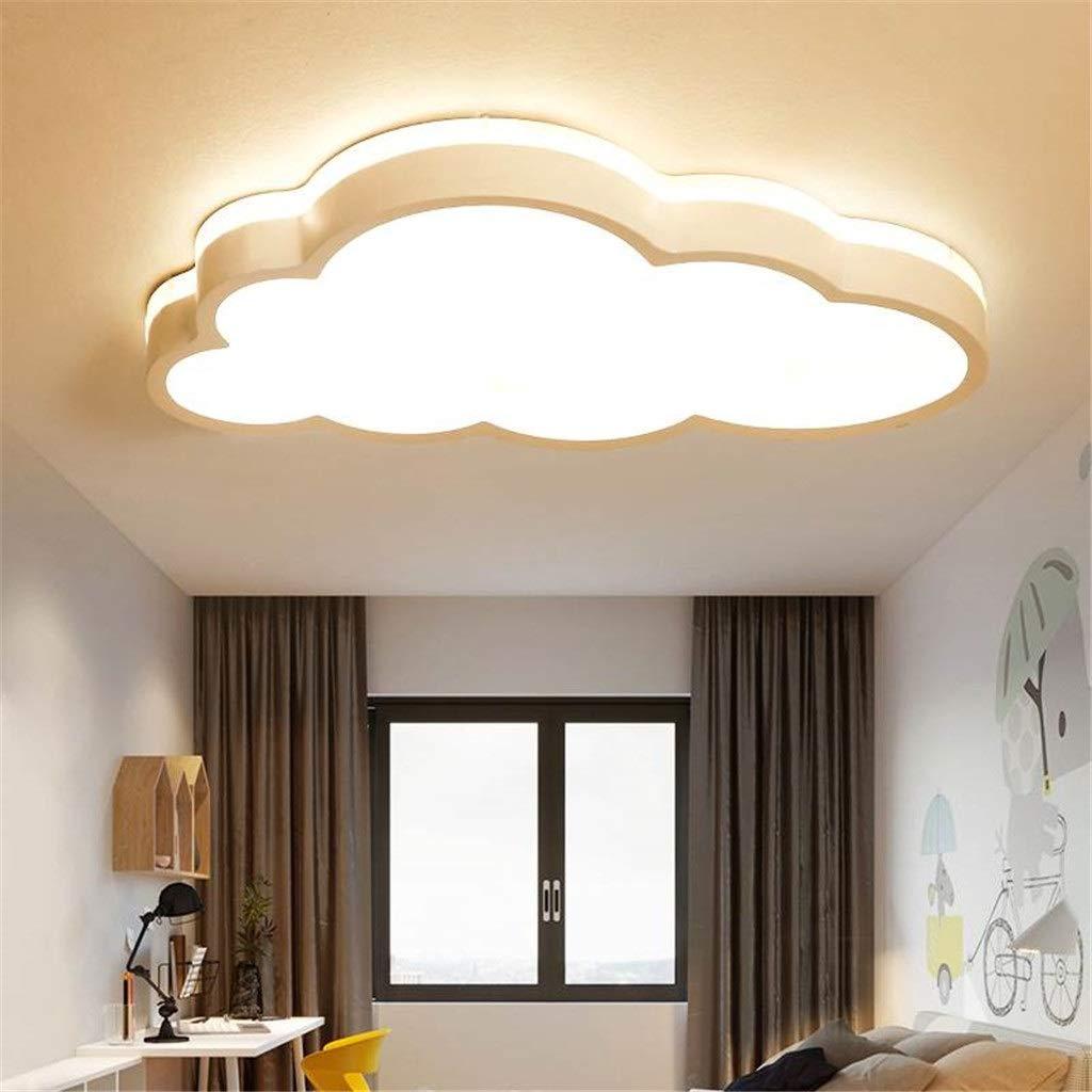 plafond /à 360 /°pour la chambre des gar/çons et des filles salle de classe plafonnier applique murale Nuages Plafonnier LED Ultra-mince Dimmable T/él/écommande Lampe de Ban JINWELL Plafonnier nuage /à LED
