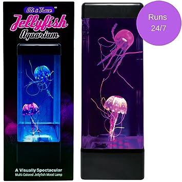 Amazon Com Oli Trace Jellyfish Aquarium Mood Lamp 2 Artificial