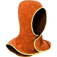 Capucha de Soldadura, Gorro para Soldador de Cuero Partido de la Vaca con Cobertor para Cuello y Hombro, Protección de…