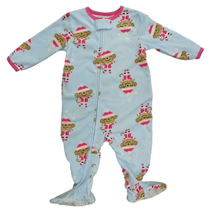 f9d8cd4a8 Amazon.com  Carter s Infant   Toddler Girls Christmas Monkey Sleeper ...