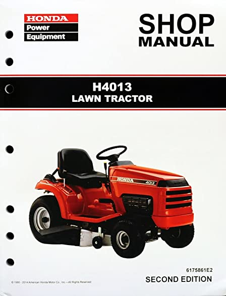 amazon com honda h4013 lawn tractor mower service repair shop rh amazon com Honda 4013 Riding Mower Honda 4013 Engine
