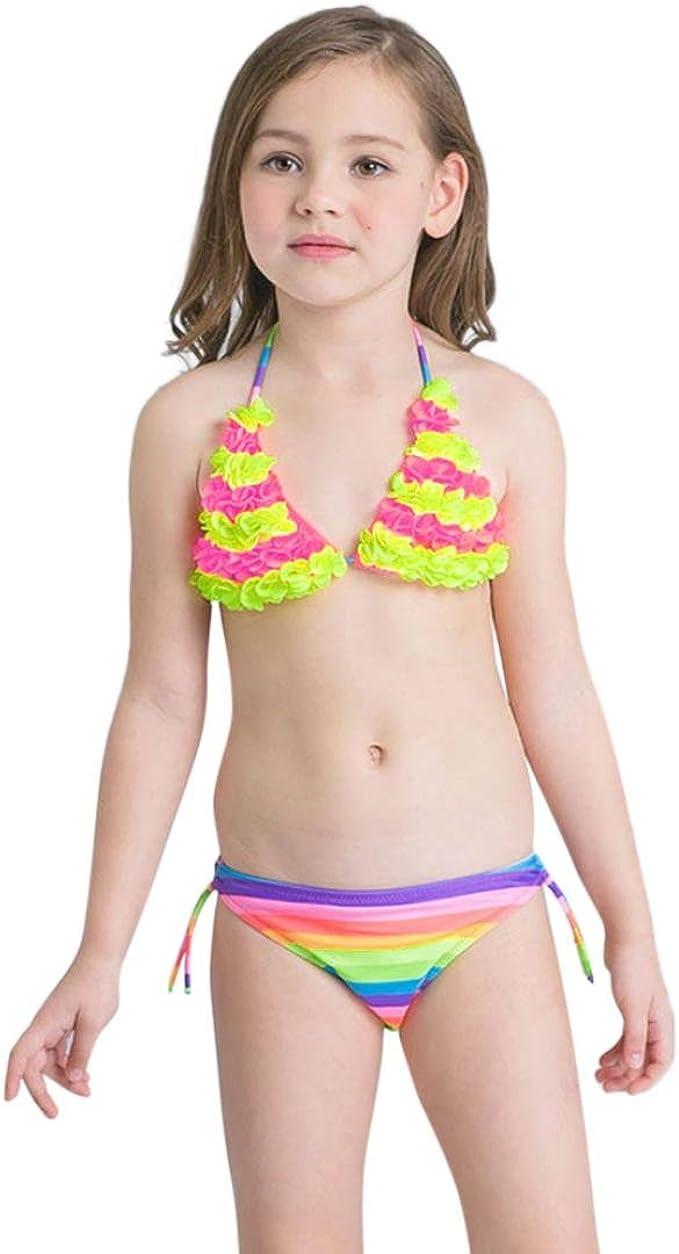 Mädchen Badehose UV-Schutz Rüschen Bikini Slip Baderock Badebekleidung 92-128