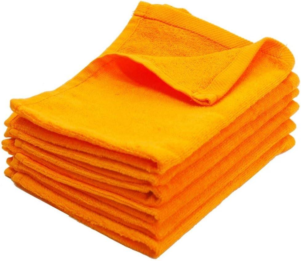 3-Pack Terry Velour Hand Towels 100/% Cotton 3, HOT PINK 11x18 Georgiabags Hemmed Fingertip Towel 11x18 Sport Towel Terry Velour Hemmed Towels