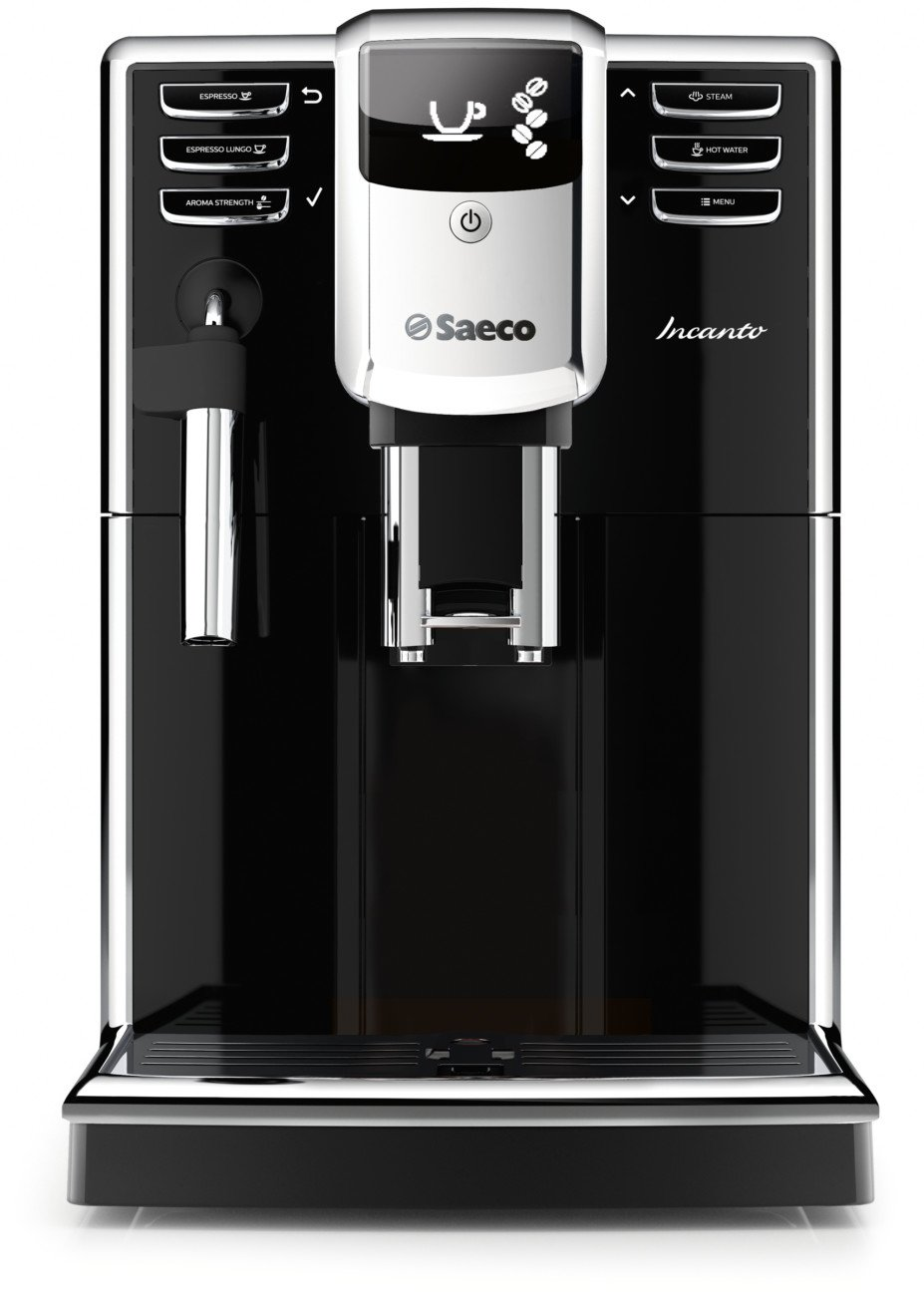 Saeco HD8911/48 Incanto Classic Milk Frother Super Automatic Espresso Machine with Aquaclean Filter, Black by Saeco
