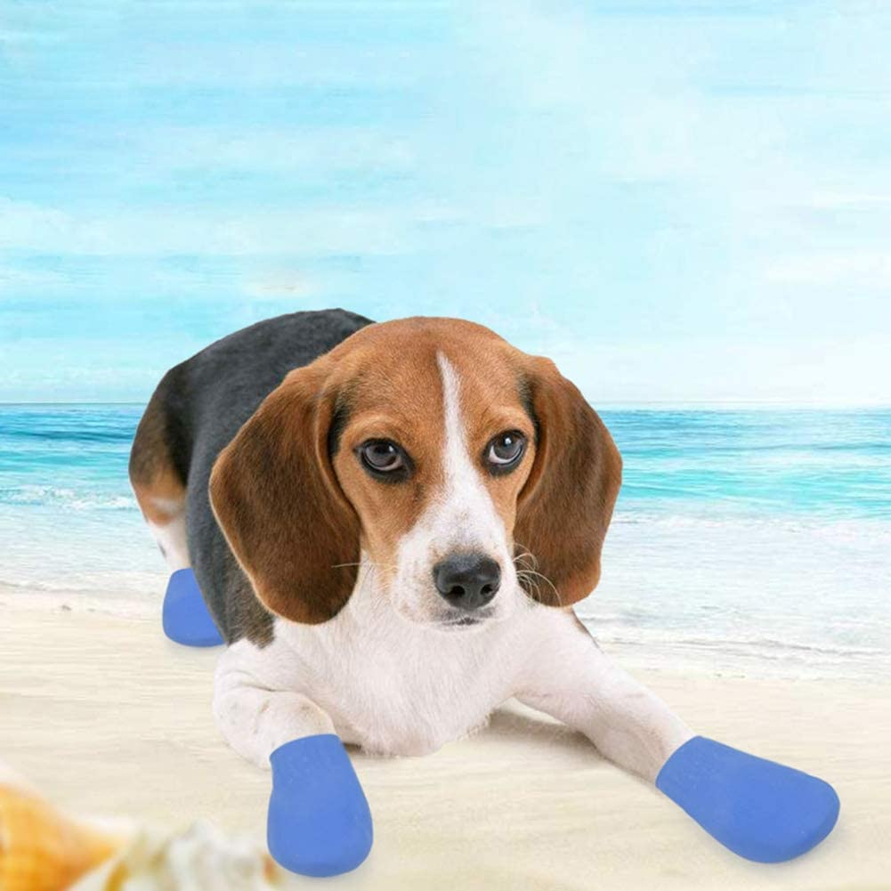 Dog Rain Rubber Shoes Waterproof Protective Boots for Small Medium Large Dogs