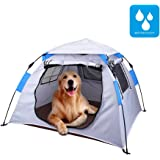 "Lumsing Large Pop Up Camping Dog Pet Tent,Automatic Instant Setup Water Resistant Ventilation Dog Tents 47.2""Lx47.2""Wx31.5""H"