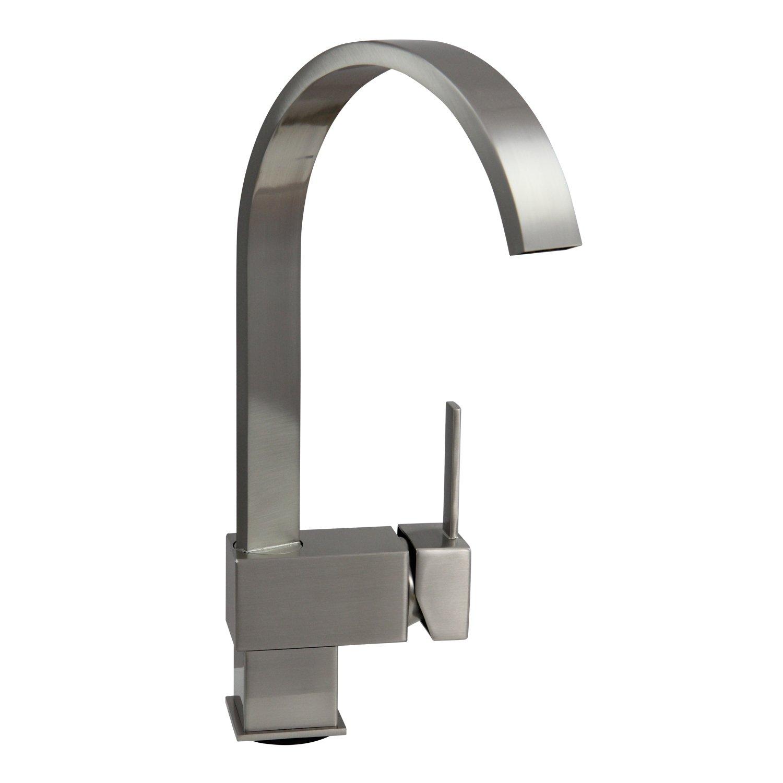 Dyconn Hudson FL003-A8BN 12-1/2-Inch Contemporary Modern Bath, Vanity, Bar Faucet (Brushed Nickel) by Dyconn