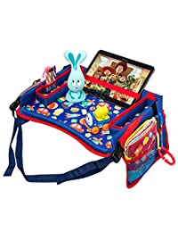 Toddler Car Seat Travel Tray by DMoose (16-Inch-by-12-Inch) – Toy Organizer, Tablet Holder, Reinforced Surface, Sturdy Base &Side Walls, Strong Buckles, Crayon Organizer, Mesh Pockets – Waterproof BOBEBE Online Baby Store From New York to Miami and Los Angeles
