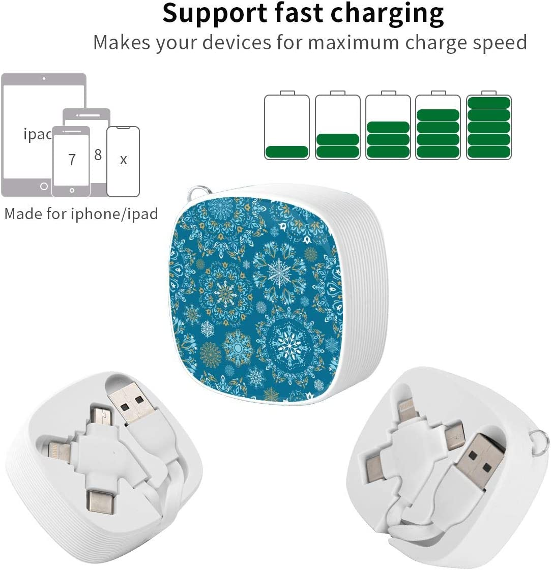 A Mini Three-in-one Data Cable satisfies All Your Charging Equipment Christmas Pattern