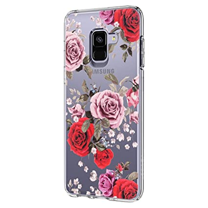 info for 072fb 0dcad Amazon.com: Case for Samsung Galaxy A8 Case Slim Clear Flower TPU ...