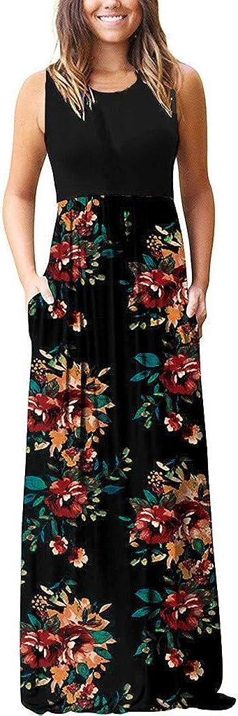 Womens Striped Long Boho Dress Lady Beach Summer Sundrss Maxi Dress Fshinging Long Dress