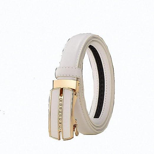 Cambio de cuero de vaca Buckle Belt Leather cinturón Cinturón para Buckle adorno en la cintura