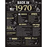 50 Years Ago Birthday or Wedding Anniversary Poster 11 x 14 Party Decorations Supplies Large 50th Party Sign Home Decor for Men and Women (Back in 1970-50 Years): more info