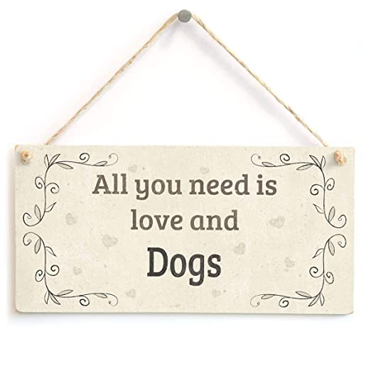 Shunry All You Need Is Love and Dogs Colgar en la Pared ...