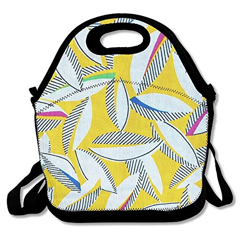 GT-0UJR Colorful Geometry Patterns Lunch Tote Bag Picnic Lunchbox Lunch Tote Insulated Reusable Container Organizer For, Adults, Kids For School Work - San Francisco Versace