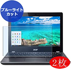 "【2 Pack】 Synvy Anti Blue Light Screen Protector for Acer chromebook 11 C740-H14N,F34N 11.6"" Screen Film Protective Protectors [Not Tempered Glass]"