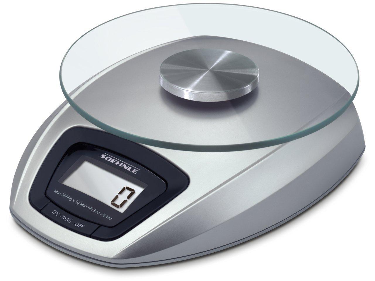 Soehnle 65840 Digitale Küchenwaage Siena silber: Amazon.de: Küche ...