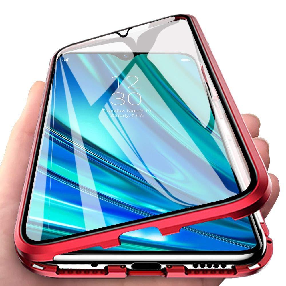 Eabhulie OPPO Realme 5 Pro Funda, Metal Bumper con Adsorción Magnética + 360 Grados Vidrio Templado Cobertura de Pantalla Completa Carcasa para OPPO Realme 5 Pro Azul: Amazon.es: Electrónica