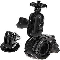 Knmaster Tüm Aksiyon Kameralara Uyumlu 360 ° Ayarlanabilir Gidon Tipi Çok Fonksiyonlu Aksiyon Kamera Tutucusu Çekim Için Aparat Unisex, Siyah, Tek Beden