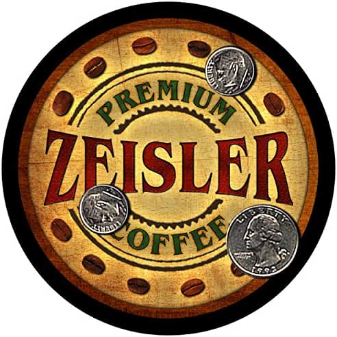 Zeisler Family Coffee Rubber Drink Coasters - Set of 4