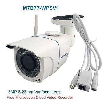 Amazon com: Microseven 6-22mm 3MP Manual Zoom Varifocal Lens HD