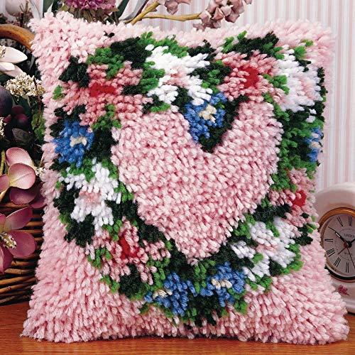 Wonderart Heart Wreath Latch Hook Kit, 12