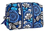 Gorgeous Vera Bradley Large Cosmetic Bag in Blue Bayou