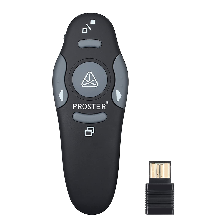 Proster Puntero para Presentaciones  GHz Inalámbrico USB PowerPoint PPT Presentador Control