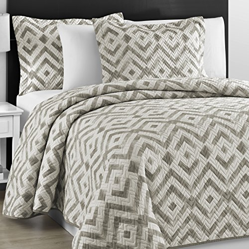 Oversized King Coverlet Set White Amazon Com