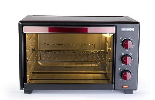 Usha OTG 3629R 29-Litre Oven Toaster Grill (Wine/Matte Black)